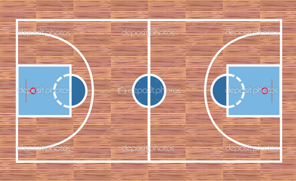 Campo da basket vettoriali stock willierossin 23449904 for Campo da basket regolamentare