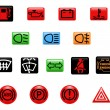 Car warning lights - Stockvectorbeeld