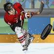 Постер, плакат: Ice hockey player