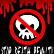 Stop death penalty — Stock Vector