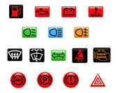 Araba uyarı lambaları — Stok Vektör