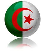 Algeria flag ball — Stock Photo