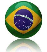 Bola de bandeira do brasil — Fotografia Stock
