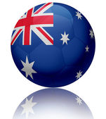 Australia flag ball — Stock Photo