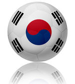 South Korea flag ball — Stock Photo