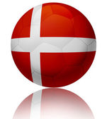 Denmark flag ball — Stock Photo
