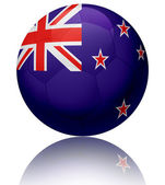 New Zealand flag ball — Stock Photo
