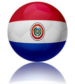 Paraguay flag ball — Stock Photo