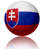 Slovakia flag ball — Stock Photo