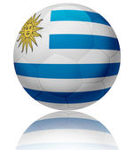 Uruguay flag ball — Stock Photo