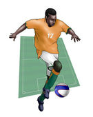 Team Ivory Coast - Cote d'Ivoire — Stock Photo
