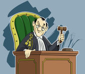 Judge cartoon — Stock Photo