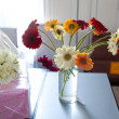 Bouquet flowers gerbera in a vase — Foto Stock