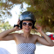 Girl in Helmet — Foto de Stock