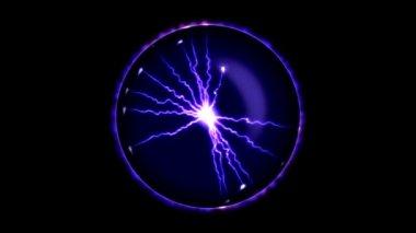 Lightning Sphere - Loopable — Stock Video