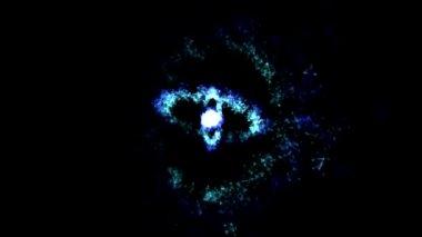 Abstract Rotating Rings - Loop Blue — Stock Video