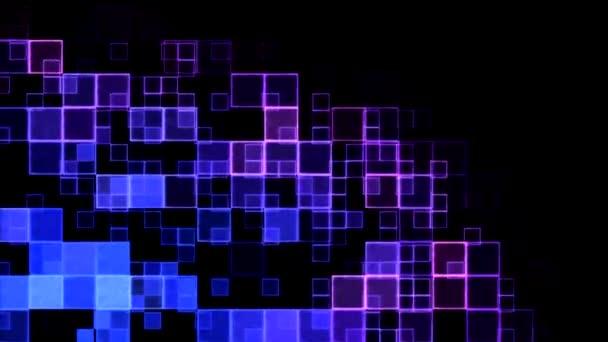 Cuadros abstractos fondo animación - lazo azul, púrpura — Vídeo de stock