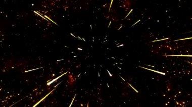 Space Travel Animation - Loop Orange — Stock Video