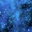 Space Travel through Star Field and Nebula - Loop Blue — Stock Video