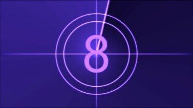 Movie Countdown Animation - Purple — Wideo stockowe