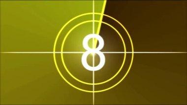 Movie Countdown Animation - Rainbow — Wideo stockowe