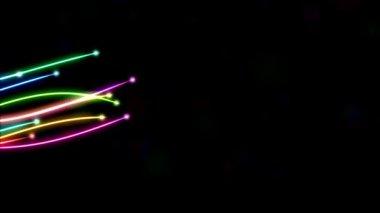 Rainbow Lines Animation — Stock Video
