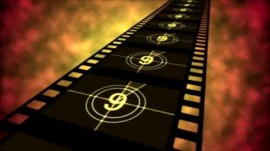 Movie Countdown Animation - Loop Orange — Wideo stockowe