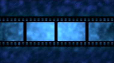 Movie Film Particle Background Animation - Loop Blue — Stock Video