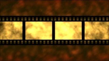 Movie Film Particle Background Animation - Loop Golden — Stock Video