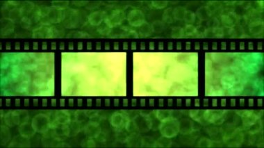 Movie Film Particle Background Animation - Loop Green — Stock Video