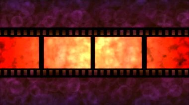Movie Film Particle Background Animation - Loop Red — Stock Video