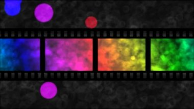 Movie Film Particle Background Animation - Loop Rainbow — Stock Video