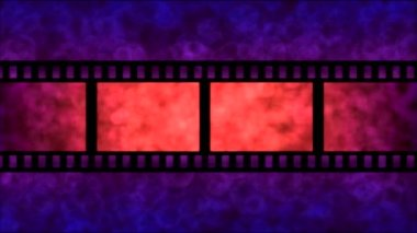 Movie Film Particle Background Animation - Loop Purple — Stock Video