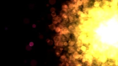 Colorful Particle Background - Loop Golden — Stock Video