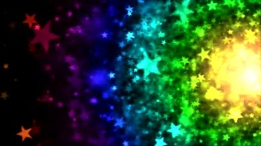 Colorful Star Particle Background - Loop — Stock Video