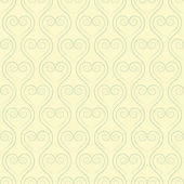 Sinuous seamless pattern with hearts — Stock Vector