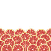Background with grapefruit. — Stock Vector