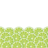 Background with lime — Stock Vector