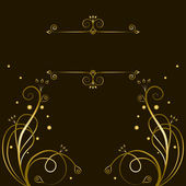 Decorative gold tracery with frame for text — Stock Vector