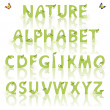 Stock Vector: Nature alphabet