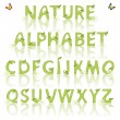 Nature alphabet — Stock Vector
