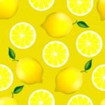 Citrus seamless pattern with lemons — Stock Vector #28735579