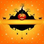 Cadre Halloween — Vecteur