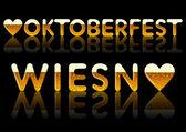 Yazıtlar oktoberfest ve wiesn — Stok Vektör