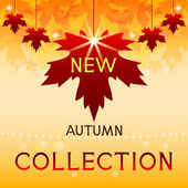 New autumn collection. Background with maple leaves. — Stock Vector