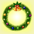Christmas wreath — Stock Vector #35631859