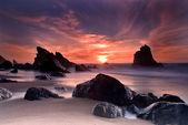 Adraga beach — Stock Photo