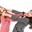 Girls fight - Stock Photo