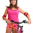 Bicycle girl — Stock Photo