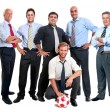 Soccer supporters — Stock Photo